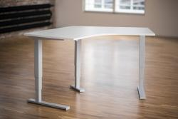 Height Adjustable Desk Ergo2Move Vertex 120° silver-grey (Steel)