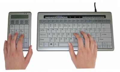 Ergonomic keyboards for left-handed people